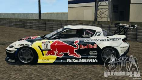 Mazda RX-8 Mad Mike для GTA 4 вид слева