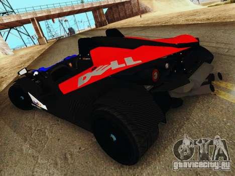 KTM X-Bow 2013 для GTA San Andreas вид слева