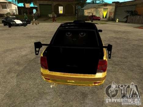 Lada 2170 Priora GOLD для GTA San Andreas вид изнутри