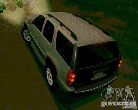 GMC Yukon Denali 2007 для GTA San Andreas вид сзади слева