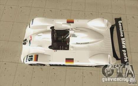 BMW V12 LeMans - Stock для GTA San Andreas вид справа