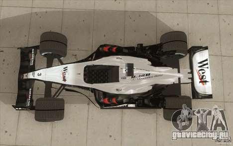 McLaren Mercedes MP 4-19 для GTA San Andreas вид справа