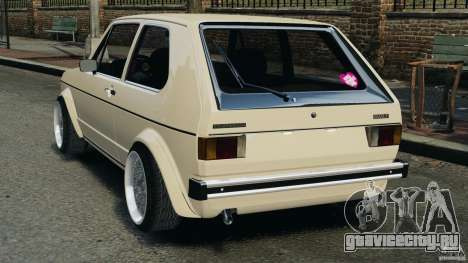 Volkswagen Golf Mk1 Stance для GTA 4 вид сзади слева