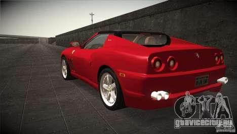 Ferrari 575 Superamerica v2.0 для GTA San Andreas вид сзади слева