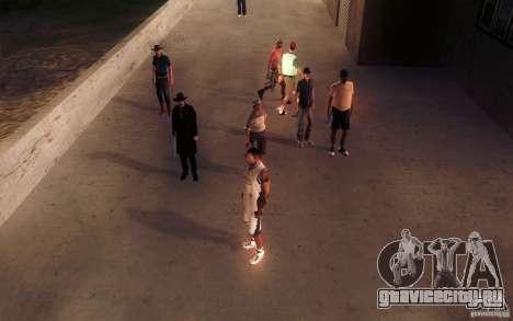 Sombras mais fortes em pedestres для GTA San Andreas седьмой скриншот