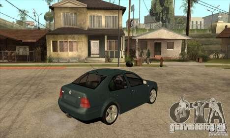 Volkswagen Bora-Golf для GTA San Andreas вид справа