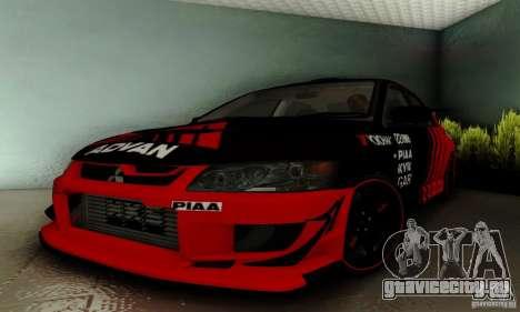 Mitsubishi Lancer Evolution 8 Tuneable для GTA San Andreas
