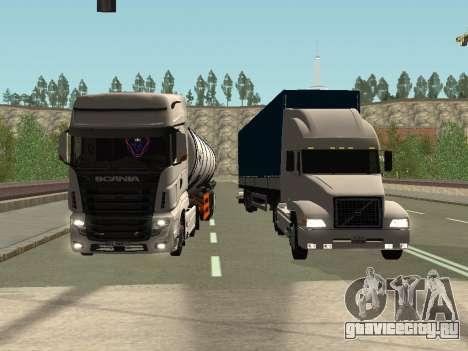 Volvo VNL для GTA San Andreas вид сбоку