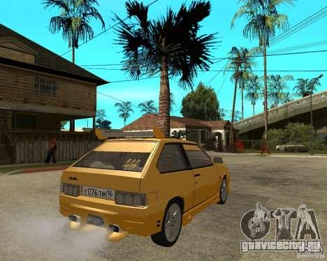 ВАЗ 2108 Юкка спорт для GTA San Andreas вид сзади слева