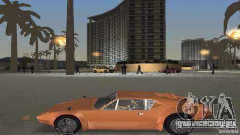 De Tomaso Pantera для GTA Vice City вид изнутри
