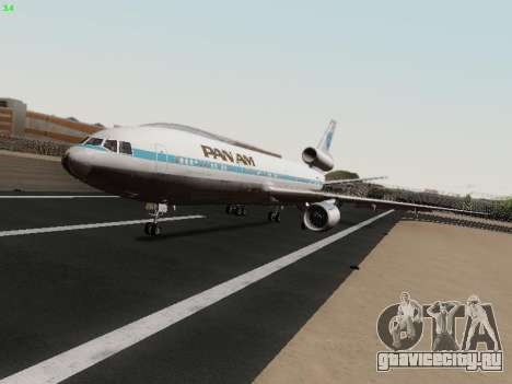 McDonell Douglas DC-10-30 PanAmerican Airways для GTA San Andreas вид слева