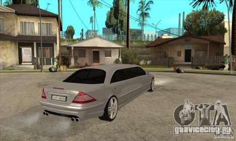 Mercedes-Benz CL65 Limusine для GTA San Andreas вид справа