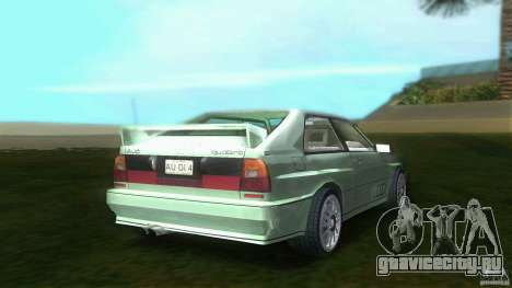 Audi Quattro для GTA Vice City вид сзади слева