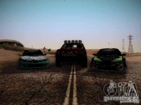 Honda Ridgeline Baja для GTA San Andreas вид сзади