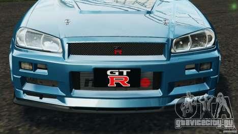 Nissan Skyline GT-R R34 2002 v1.0 для GTA 4 колёса