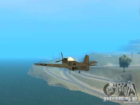 P-51 Mustang для GTA San Andreas вид справа