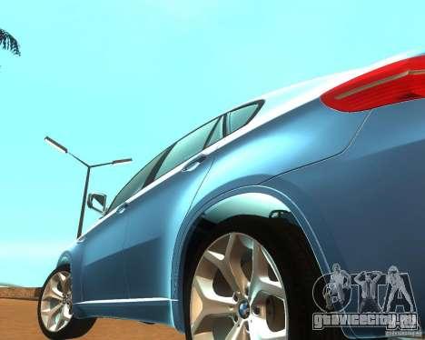 BMW Motorsport X6 M v. 2.0 для GTA San Andreas вид изнутри