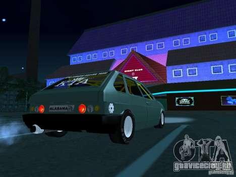 ВАЗ 2109 драг для GTA San Andreas вид сзади слева