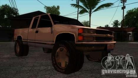 Chevrolet Silverado 1996 для GTA San Andreas вид сзади