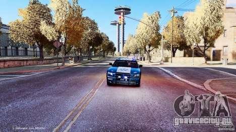 POLICIA FEDERAL MEXICO DODGE CHARGER ELS для GTA 4 вид сбоку