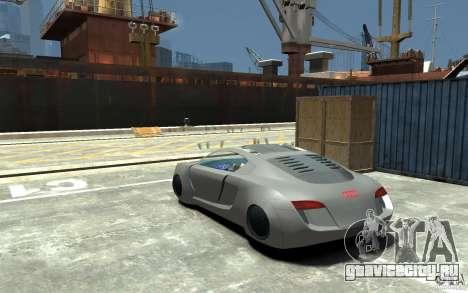 Audi RSQ Concept для GTA 4 вид сзади слева