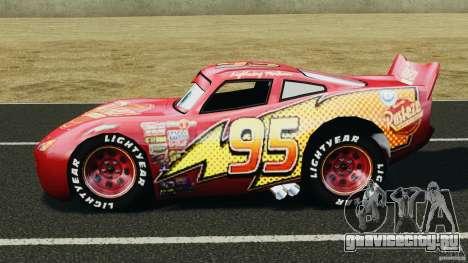 Lightning McQueen для GTA 4 вид слева
