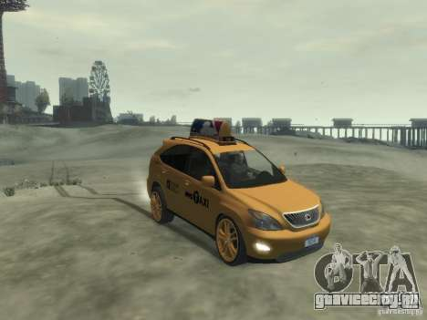 Lexus RX400 New York Taxi для GTA 4 вид слева