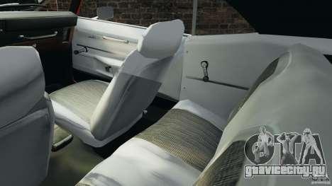 Chevrolet Camaro SS 350 1969 для GTA 4 вид изнутри