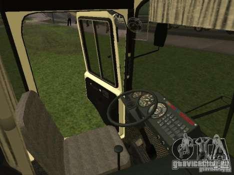 ПАЗ 32053 для GTA San Andreas вид изнутри