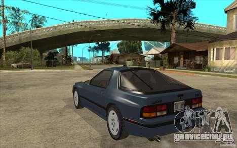 Mazda RX7 FC3S Stock для GTA San Andreas вид сзади слева