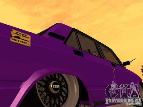 ВАЗ 2107 JDM для GTA San Andreas вид сверху