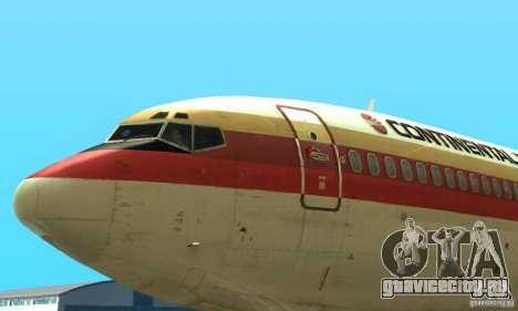 Boeing 707-300 для GTA San Andreas вид сзади слева