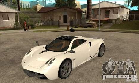 Pagani Huayra ver. 1.1 для GTA San Andreas вид слева