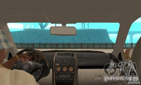 Lexus IS300 2005 для GTA San Andreas вид сзади