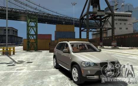 BMW X5 2009 для GTA 4 вид сзади
