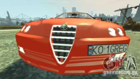 Alfa Romeo GTV Spider для GTA 4 вид сбоку