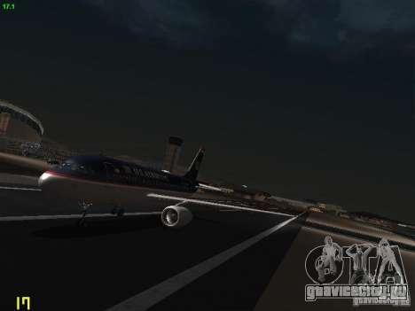 Airbus A319 USAirways для GTA San Andreas вид слева