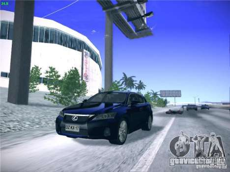 Lexus CT200H 2012 для GTA San Andreas вид сзади