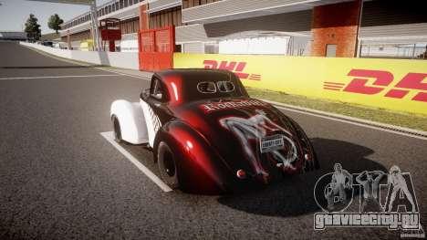 Willys Americar 1941 для GTA 4 вид сбоку