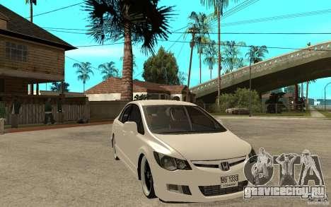 Honda Civic FD для GTA San Andreas вид сзади