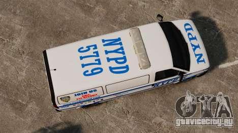 Полицейский Speedo для GTA 4 вид справа