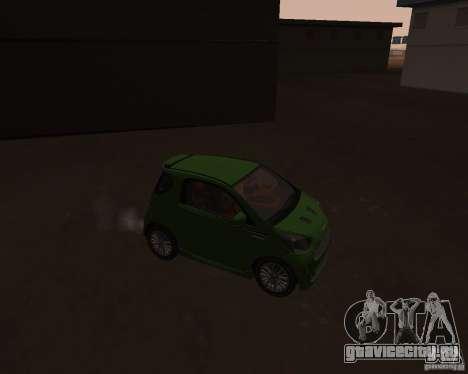 Aston Martin Cygnet Concept 2009 V1.0 для GTA San Andreas вид сзади слева