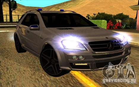 Mercedes-Benz ML63 AMG W165 Brabus для GTA San Andreas вид изнутри