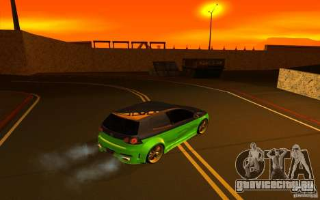Volkswagen Golf V R32 Custom для GTA San Andreas вид изнутри