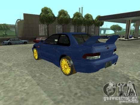 Subaru Impreza 22B STI для GTA San Andreas вид слева