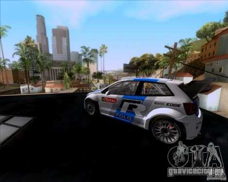 Volkswagen Polo WRC для GTA San Andreas вид сзади слева