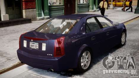Cadillac CTS для GTA 4 вид сверху