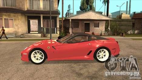 Ferrari 599 GTO 2010 V1.0 для GTA San Andreas вид слева