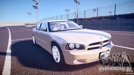 Dodge Charger RT Hemi 2007 Wh 1 для GTA 4 вид сзади