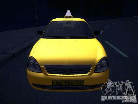 ВАЗ 2170 Приора Такси ТМК Форсаж для GTA San Andreas вид сверху